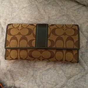 Coach wallet with removable check book holder